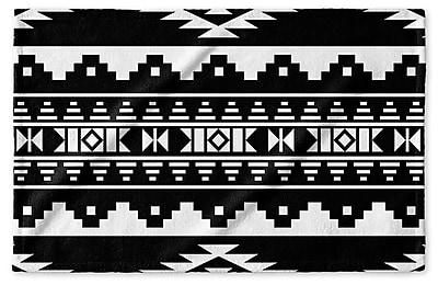 Loon Peak Fleur Hand Towel; Black