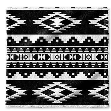Loon Peak Fleur Wash Cloth; Black