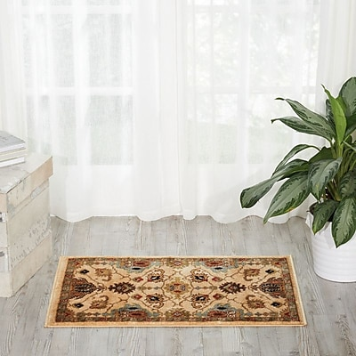 Charlton Home Manorville Ivory Area Rug; Rectangle 2' x 3'