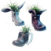 HomeStyles Boot Buddies Pot Planter
