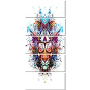 DesignArt 'Colorful Tiger in Glasses' 5 Piece Graphic Art on Canvas Set