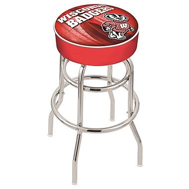 Holland Bar Stool NCAA 25'' Swivel Bar Stool; Wisconsin - ''Badger''