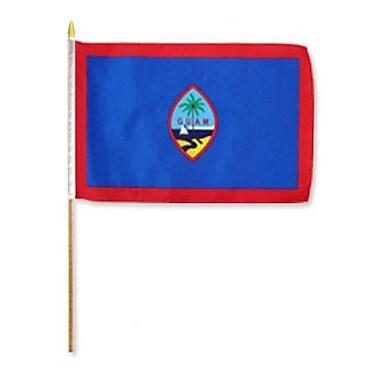 FlagsImporter Guam Traditional Flag and Flagpole Set (Set of 12)
