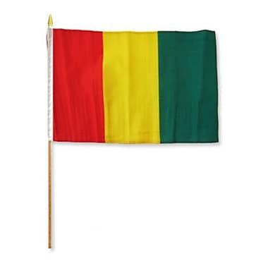 FlagsImporter Guinea Traditional Flag and Flagpole Set (Set of 12)