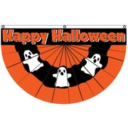 FlagsImporter Halloween (Ghost) Bunting Pleated Flag