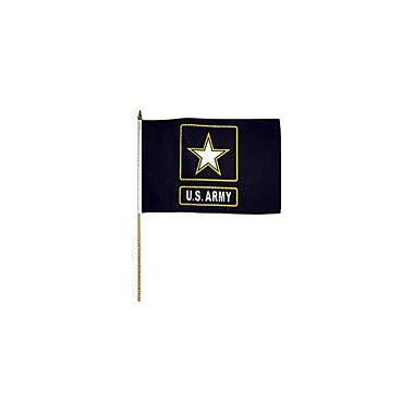 FlagsImporter Army (Star) Traditional Flag and Flagpole Set (Set of 12)