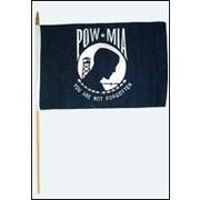 FlagsImporter POW-MIA Traditional Flag and Flagpole Set (Set of 12)