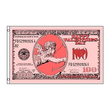 FlagsImporter Cupid Money Traditional Flag