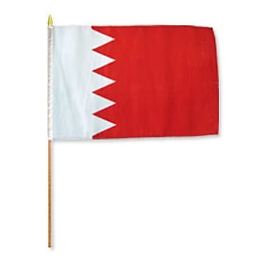 FlagsImporter Bahrain Traditional Flag and Flagpole Set (Set of 12)