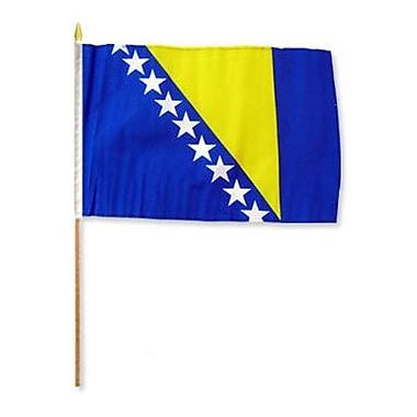 FlagsImporter Bosnia & Herzegovina Traditional Flag and Flagpole Set (Set of 12)