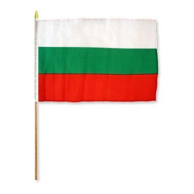 FlagsImporter Bulgaria Traditional Flag and Flagpole Set (Set of 12)