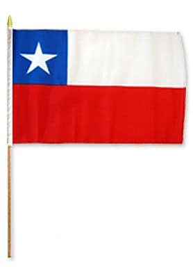 FlagsImporter Chile Traditional Flag Set (Set of 12)