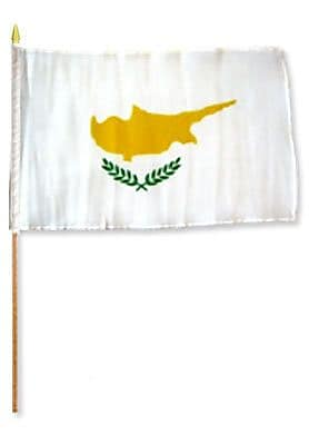 FlagsImporter Cyprus Traditional Flag and Flagpole Set (Set of 12)