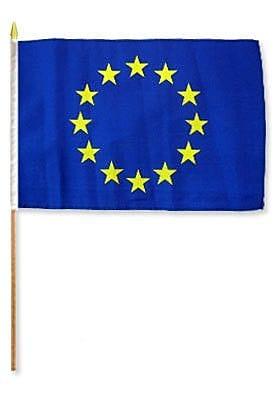 FlagsImporter European Union Traditional Flag and Flagpole Set (Set of 12)
