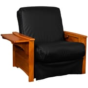 Epic Furnishings LLC Valet Perfect Sit and Sleep Futon Chair; Leather Look Black