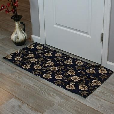 Ess Ess Exports Festoon Hand-Woven Blue Indoor Area Rug; 5' x 8'
