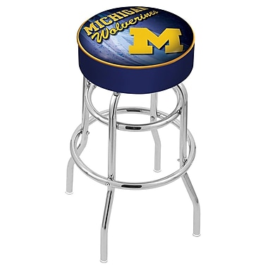 Holland Bar Stool NHL 30'' Swivel Bar Stool; Michigan Tech University