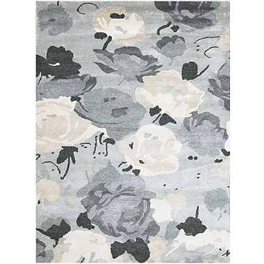 AMER Rugs Shimmer Hand-Tufted Gray Area Rug; 5' x 7'6''