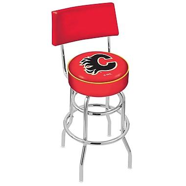 Holland Bar Stool NCAA 25'' Swivel Bar Stool; Calgary Flames