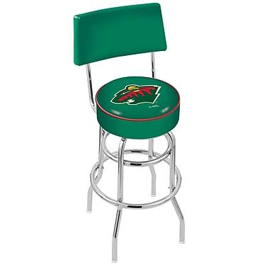 Holland Bar Stool NCAA 25'' Swivel Bar Stool; Minnesota Wild