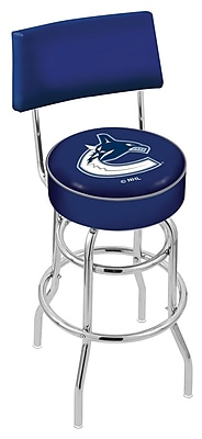 Holland Bar Stool NCAA 30'' Swivel Bar Stool; Vancouver Canucks