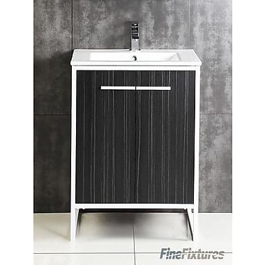 Fine Fixtures Vdara 24'' Single Bathroom Vanity Set; Dawn Gray