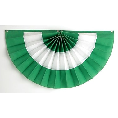 Independence Bunting 3 Stripe Pleated Flag; 24'' H x 48'' W