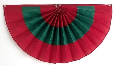 Independence Bunting 3 Stripe Pleated Flag; 36'' H x 72'' W