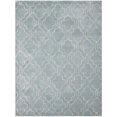 AMER Rugs City Hand-Tufted Blue/Gray Area Rug; 2' x 3'