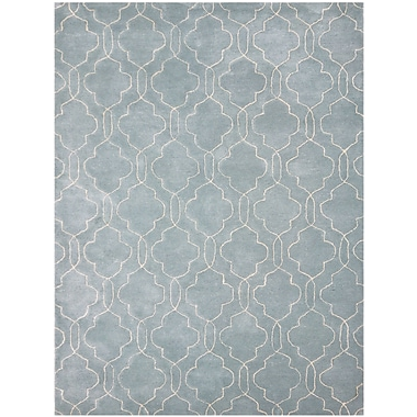 AMER Rugs City Hand-Tufted Blue/Gray Area Rug; 7'6'' x 9'6''