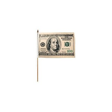 FlagsImporter Hundred Dollars Traditional Flag and Flagpole Set (Set of 12)