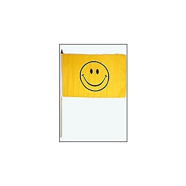 FlagsImporter Happy Face Traditional Flag and Flagpole Set (Set of 12)