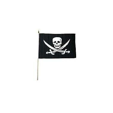 FlagsImporter Jack Rackham Traditional Flag and Flagpole Set (Set of 12)