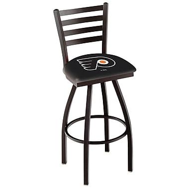 Holland Bar Stool NCAA 39'' Swivel Bar Stool; Philadelphia Flyers- Black