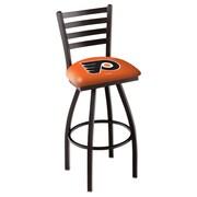 Holland Bar Stool NCAA 39'' Swivel Bar Stool; Philadelphia Flyers- Orange