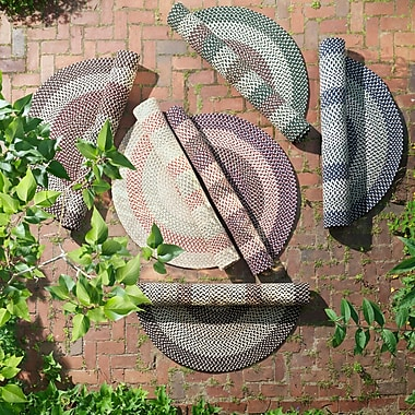 Colonial Mills Brook Farm Blackberry Indoor/Outdoor Area Rug; Round 6'