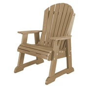 Little Cottage Company Heritage High Fan Back Chair; Weathered Wood/Black