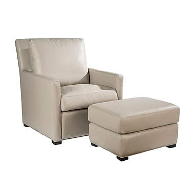 Palatial Furniture Charlotte Leather Club Chair; Taupe