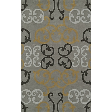 Dalyn Rug Co. Journey Hand-Tufted Pewter Area Rug; 5' x 7'6''
