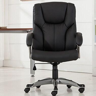 Belleze Ergonomic Mid-Back Desk Chair; Black