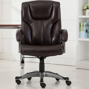 Belleze Ergonomic Mid-Back Desk Chair; Mocha