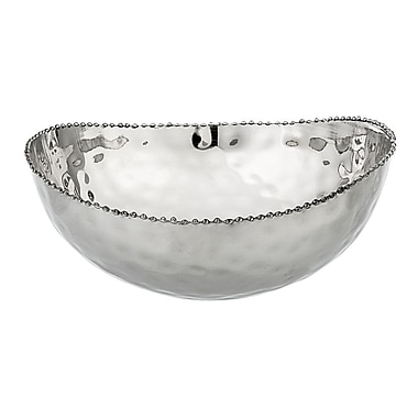 ClassicTouch Hammered Candy / Nut Bowl