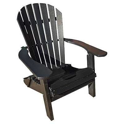 Buyers Choice Phat Tommy Adirondack Chair; Black