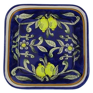 Le Souk Ceramique Citronique Square Stoneware Serving Bowl