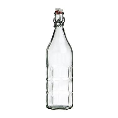 Vandue Corporation Culaccino Swing Top Round 34 oz. Glass Bottle; Clear