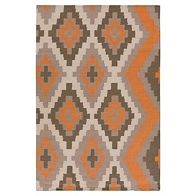 Beth Lacefield Alameda Hand woven Orange/Taupe Area Rug; 8' x 11'