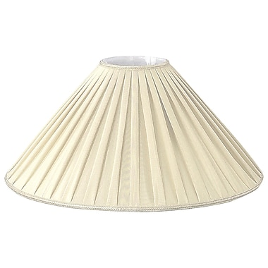 RoyalDesigns 20'' Timeless Silk Empire Lamp Shade; Beige