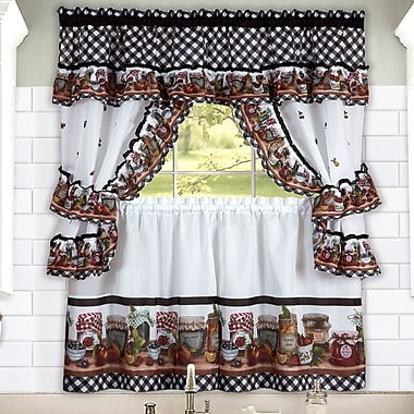 August Grove Carney Jars Valance and Tier Set; 57'' x 24''