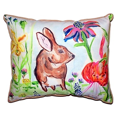 Betsy Drake Interiors New Rabbit Outdoor Lumbar Pillow; Small