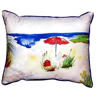 Betsy Drake Interiors Beach Umbrella Outdoor Lumbar Pillow; Small